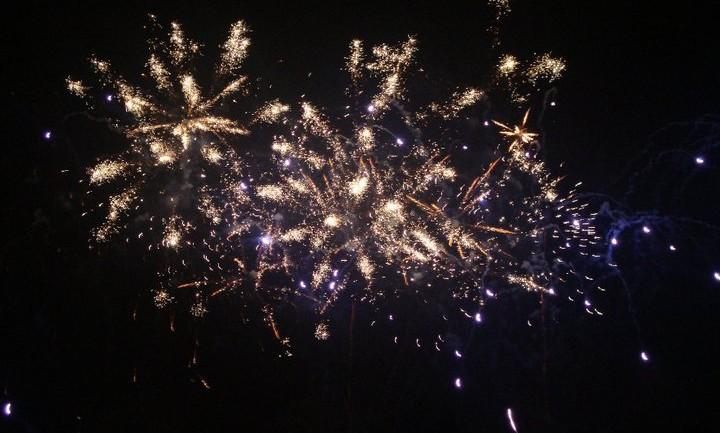 Clear Glittering Fireworks