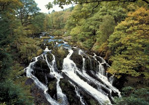 Swallow Falls Betws-y-Coed North Wales Scenery