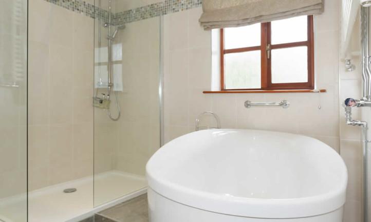 Room 12 Spring Gentium Bathroom With Walk in Shower & Tub