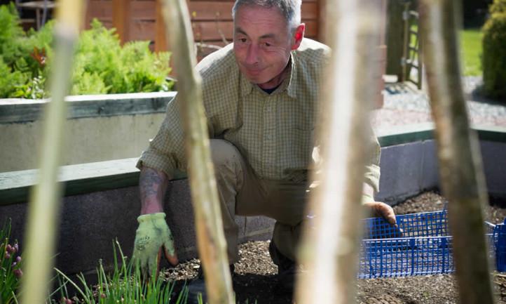 Gardening at Tyn Rhos
