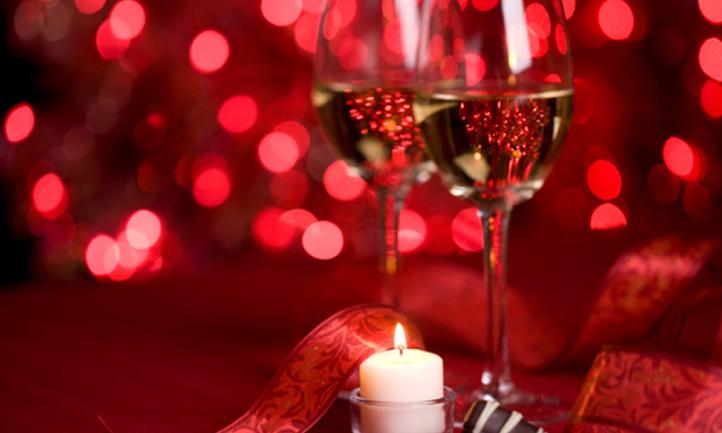 Valentine's Day Wine and Chocolates